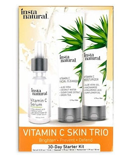 1.InstaNatural, Vitamin C Skin Trio, 30-Day Starter Kit, 3 Piece Kit.png