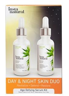 2.InstaNatural, 日夜肌肤护理,抗衰老护肤套装,2 瓶,每瓶 1 盎司(30 毫升).png.png