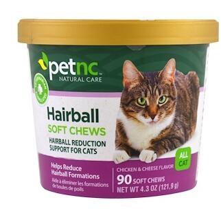 10。petnc NATURAL CARE, 宠物自然护理,毛球软化咀嚼糖,适合所有的猫,鸡肉和奶酪味.jpg