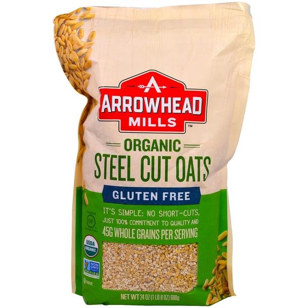 Arrowhead Mills, 无麸质,钢切燕麦,热食麦片.jpg