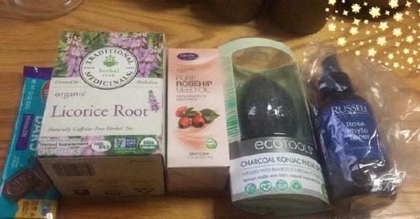 玫瑰爽肤水/魔芋海绵/玫瑰果油/米浆脆/Traditional Medicinals甘草根茶~Russell,EcoTools,Life Flo Health