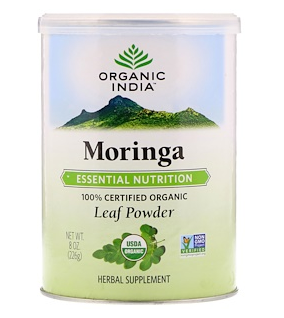 3.Organic India, 有机辣木叶粉,8 盎司(226 克).png