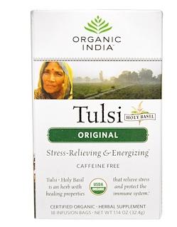 5.Organic India, 印度图尔西圣罗勒茶,不含咖啡因,天然,18袋,1.14盎司(32.4克)..png