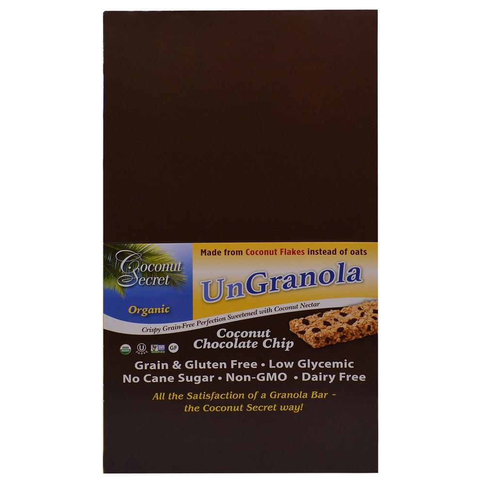 Coconut Secret, 有机椰子味巧克力碎片非格兰诺拉棒.jpg