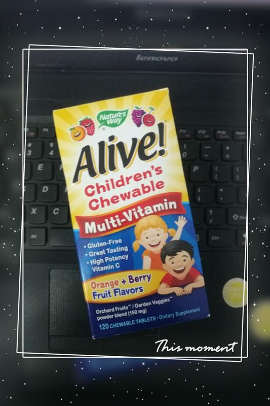 1. Nature's Way, Alive! Alive!兒童综合维他命咀嚼片,橙子莓子味,120片.jpg.jpg