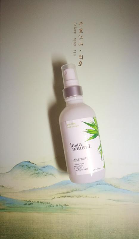 2.InstaNatural, 玫瑰水面部爽肤水,无酒精,4液量盎司(120毫升).jpg