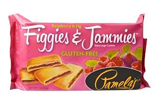 3.Pamela's Products, 菲姬与杰米斯,超大饼干,覆盆莓和无花果,9盎司(255克).png