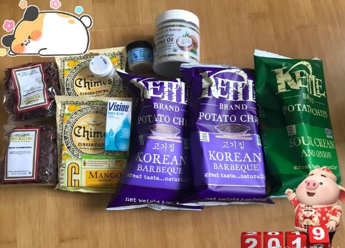 玫瑰面霜/姜糖/韩式烧烤薯片/酸奶洋葱薯片/椰子油/眼药水/蔓越莓/vc精华