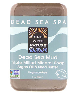 1。One with Nature, Triple Milled Mineral Soap Bar, Dead Sea Mud, Fragrance-Free.png