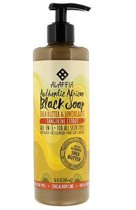 6.Alaffia, 纯正非洲液体黑皂,橘子味,16液体盎司(476毫升).jpg
