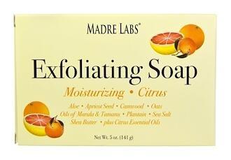 2.Madre Labs, 祛角质皂条,含有马鲁拉油和琼崖海棠油以及乳木果油,柑橘味,5 oz (14.jpg