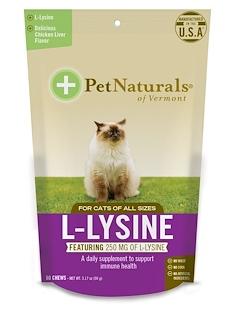 1.Pet Naturals of Vermont, L-赖氨酸,猫食,鸡肝口味,250 毫克,60 粒咀嚼片,3.74.png
