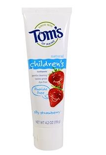 4.Tom's of Maine, 儿童无氟牙膏,草莓小子,4.2盎司(119克).png