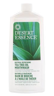 6.Desert Essence, 天然清新茶树油漱口水,不含酒精,16盎司(480ml).png