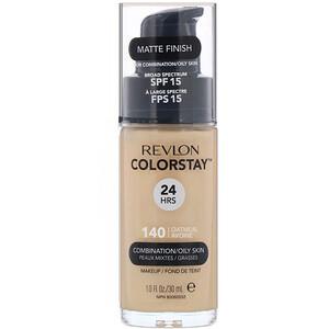 2.2. Revlon, ColorStay,粉底液,混合 油性皮肤,燕麦色 140 Oatmeal.jpg