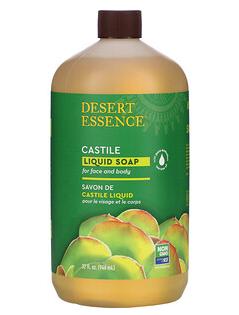 5.Desert Essence, 卡斯蒂利亚液体皂,含生态采收茶树油,32液量盎司(960毫升).png.png