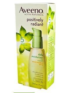 6.Aveeno, Active Naturals, Positively Radiant Daily Moisturizer, SPF30, 2.5 fl oz.jpg