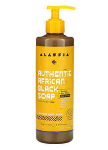 1.Alaffia, Authentic African Black Soap, Lavender Ylang Ylang, 16 fl oz (478 ml).png