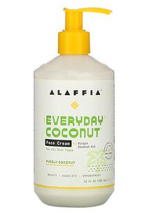 3.Alaffia, 每日椰子,面霜,纯椰子,12 液量盎司(354 毫升).png