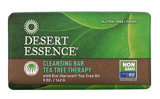 6.Desert Essence, 茶树净肤块状皂,5 盎司(142 克).png