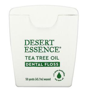 8.Desert Essence, 茶树油牙线,打蜡,50 码(45.7 米).png