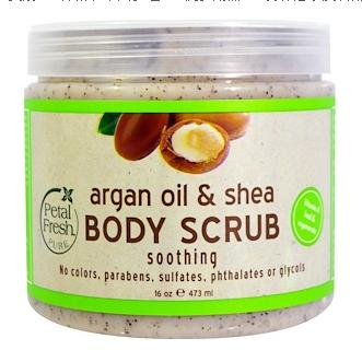 4 Petal Fresh, Pure, 摩洛哥坚果油和乳木果身体磨砂膏新图.png