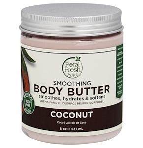 6..Petal Fresh, Pure, 身体润肤霜,超级保湿,椰子,8 盎司(237 毫升).png.png