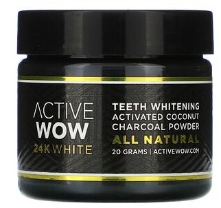 3.Active Wow, 24K 白全天然牙齿美化木炭粉,活性椰子,20 克.png