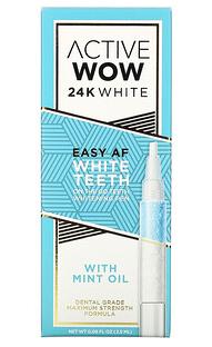 1.Active Wow, 24K 白色,轻松 AF 牙齿美化笔含薄荷油,0.09 液量盎司(2.5 毫升).pn.png