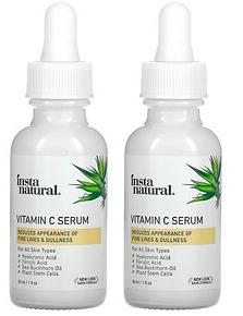 2.InstaNatural, 维生素 C 精华套装,2 瓶,1 液量盎司(30 毫升)瓶.png