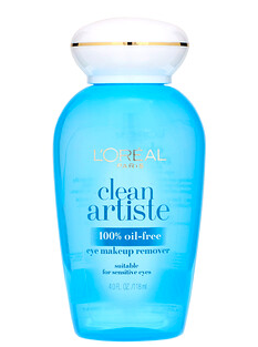 4.L'Oreal, Clean Artiste,眼部卸妆水,适合敏感眼部,4 液量盎司(118 毫升)..png