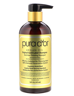 4.Pura D'or, 防止头发稀疏洗发水,16液量盎司(473毫升).png