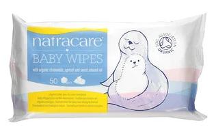 8.Natracare, 婴儿湿巾,含有机洋甘菊、杏和甜杏仁油,50 片.png