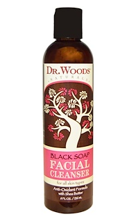 5.Dr. Woods, 洁面乳,日常角质护理,8液盎司(236毫升).png