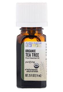 1.Aura Cacia, 有机, 茶树, 0.25 液体盎司 (7.4毫升).png